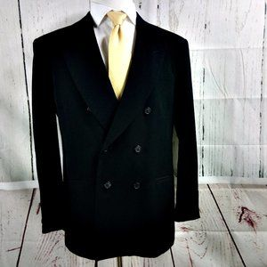 City Streets Custom Fit Black Suit Blazer Sports C